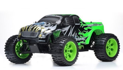 SZJJX 1/10 2.4Ghz Exceed RC Electric Infinitive Ep RTR Off Road Truck Fire Toy, Green