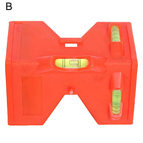 dezirZJjx Spirit Level, Adjustable Post Spirit Level Fence Magnetic Horizontal Vertical Folding Tool Red B