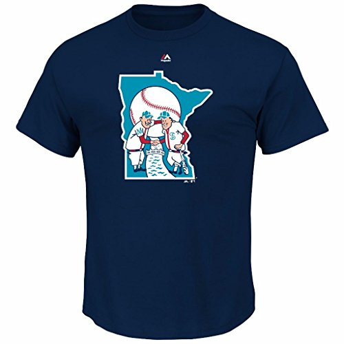 MLB Youth Cooperstown Official Logo Team T-Shirt (Youth Large 14/16, Minnesota Twins)