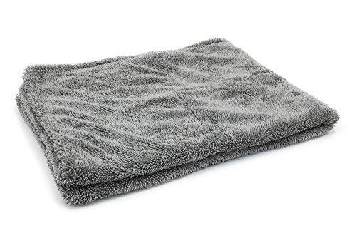 [Dreadnought] Microfiber Car-Drying Towel, Superior Absorbency for Drying Cars, Trucks, and SUVs, Double-Twist Pile, One-Pass Vehicle-Drying Towel (Original (20x30), Gray)