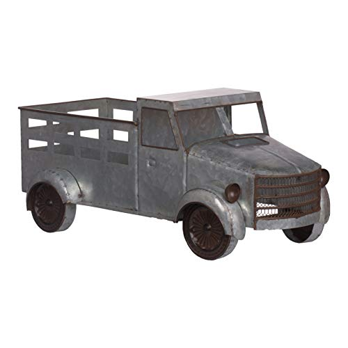 A&B Home Suvi Iron Truck Accent Table Decor Grey (Accents Truck)