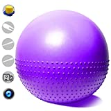Balance Ball - Exercise Stability Yoga Ball Alternative Flexible Seating for Active in Home Or Classroom (Satisfaction Guarantee) Extra Thick Yoga Ball Chair