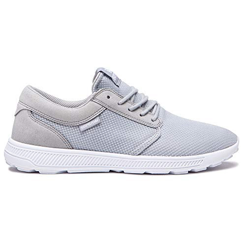 Supra Hammer Run Skate Shoe, Grey White, 10 Regular US
