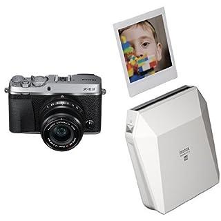 Fujifilm X-E3 Mirrorless Digital Camera w/XF23mmF2 R WR Kit - Silver + Fujifilm Instax Square SP-3 White (B07CRXP4PF) | Amazon price tracker / tracking, Amazon price history charts, Amazon price watches, Amazon price drop alerts