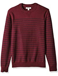 Men's Soft Cotton Striped Crewneck Sweater
