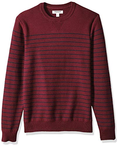 Goodthreads Men's Soft Cotton Striped Crewneck Sweater, for sale  Delivered anywhere in USA