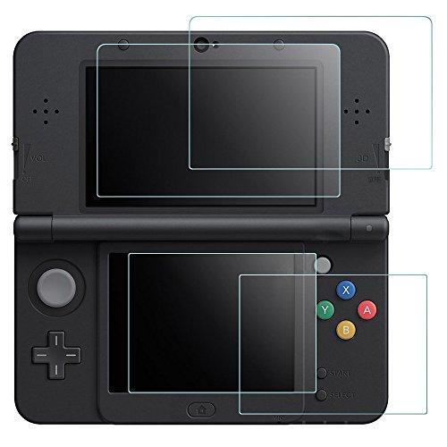 AFUNTA Protectores de Pantalla New Nintendo 3DS, 2 Pack Vidrios Templado la Pantalla Superior Protectores en Pet HD la...