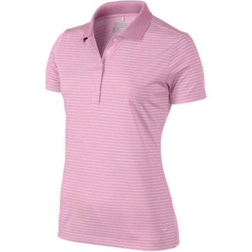 Nike da Donna Golf Tech Polo a Righe, Donna, Pefect Pink ...