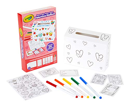 Crayola DIY Valentine Box with 24 Valentines, Craft for Kids, for Kids -
