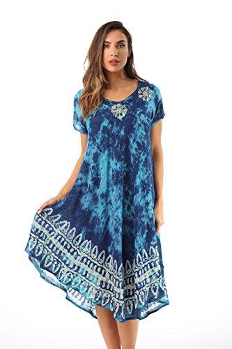 8dca7c0c32c 21803-NVY-2X Riviera Sun Dress Dresses for Women