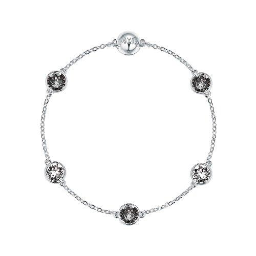 2c70457cc My Jewellery Story MYJS Remix Collection Timeless with Swarovski Black  Diamond Crystals Rhodium Ptd