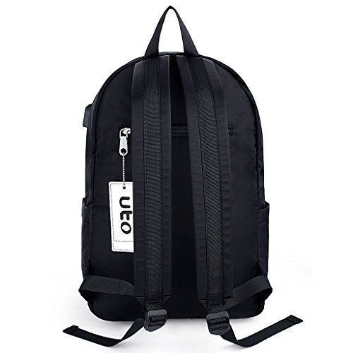 Rucksack black Purse 347 College Fashion Bookbag Oxford Blue School Waterproof Nylon Backpack UTO Shoulder Cloth YqATP