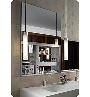 robern cbuc3627fpl uplift flat plain mirror medicine cabinet
