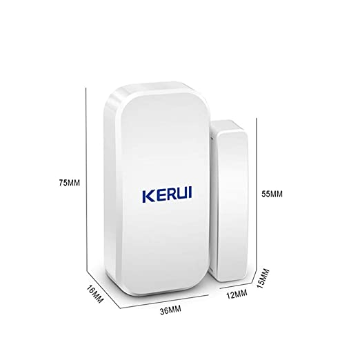 KERUI Wireless Home Doors Windows Security Entry Alarm System - EASY to install FREE BATTIRES Door Sensor for GSM Home Security Alarm System