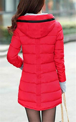 con invernale rosso cappuccio Cappuccio cerniera con caldo q7d5t4x