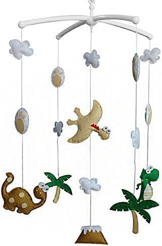 ベビーカームを保持するベビーベッドハンギングベルミュージカルおもちゃ、恐竜タイプ、B