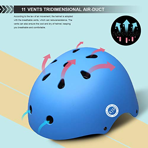 XJD Kids Bike Helmet Toddler Helmet Ages 3-8 Years Old Toddler Bike Helmet Girls Boys Bike Helmet Adjustable and Multi-Sport Safety for Cycling Skating Scooter (Blue Small)