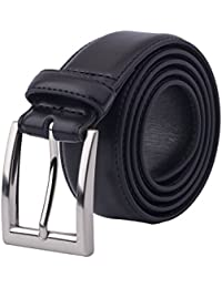 Men's Classic Dress Leather Belt Black & Brown Color