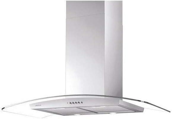 Campana decorativa Airlux AHI 981 IX: Amazon.es: Grandes electrodomésticos