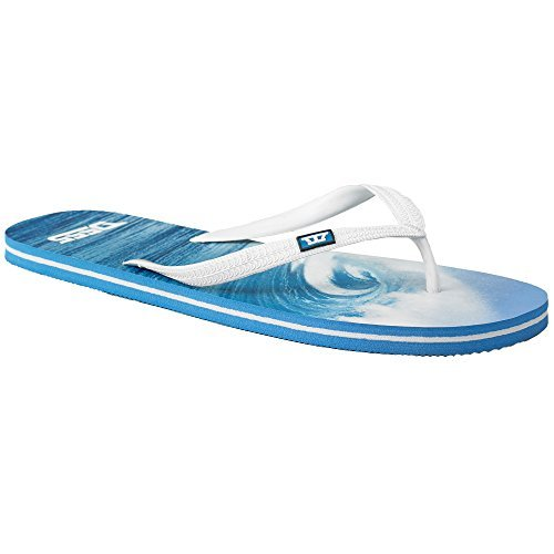 D555 Herren Zehentrenner Duke King-Size Maui Pantoffeln Strand Tanga Urlaub Sommer Neu blau - ksmaui
