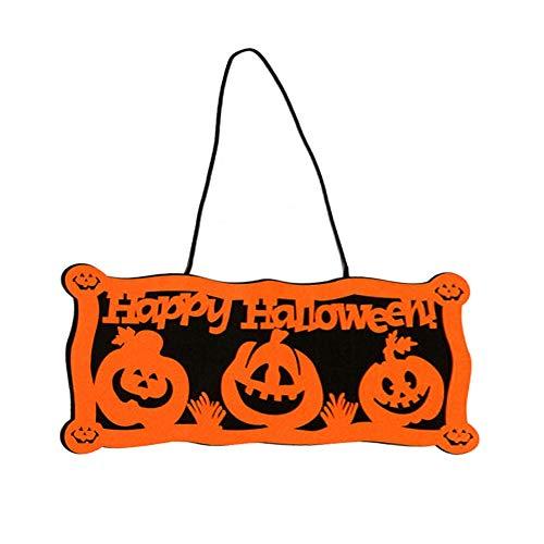 Orgrimmar Happy Halloween Door Hanger Outdoor Pumpkin Decor Wall Window Hanger Door Banner -