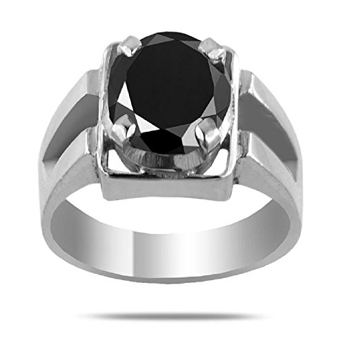 3.05 Ct AAA Quality Black Diamond Solitaire Unisex Ring,Affordable Price,Available in All Sizes by Barishh