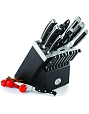 Remy Olivier Ombre 19-Pc Knife Set with Wooden Block - Kitchen Knife Set - Includes Knife Holder - Durable and Long Lasting Sharpness