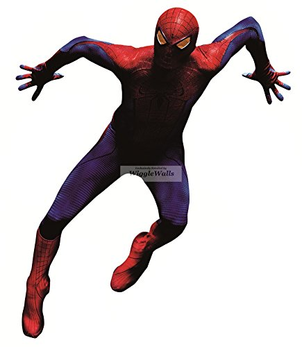 "12"" Amazing Spiderman Spider Man Marvel Comics Removable Peel Self Stick Adhesive Vinyl Decorative Wall Decal Sticker Art Kids Room Home Decor Boys Children Nursery Baby 8x12 Inch Tall"