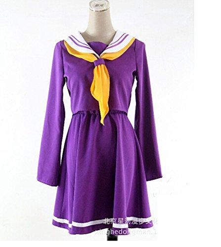 Kmvei No Game No Life Shiro Cosplay Costume-Female-Large
