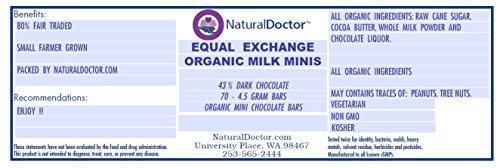 Equal Exchange Organic Milk Chocolate 43% Minis, 70 - 4.5 Grams