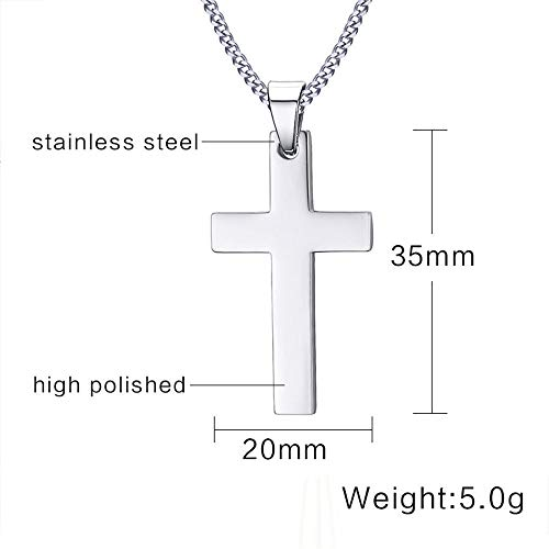Aztec Sconce - Cross Statement Pendant Mens 24 Stainless Steel Link Chain