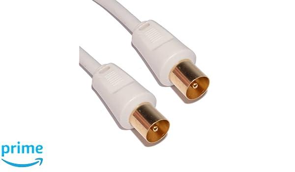 Cable Mountain - Cable coaxial para la antena (2 m, conector dorados macho a macho) 2 m: Amazon.es: Electrónica