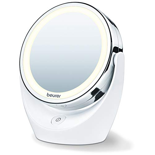 Beurer 5x Magnifying Double-Sided Cosmetic Vanity Makeup Mirror Illuminated LED Lights, 360° -