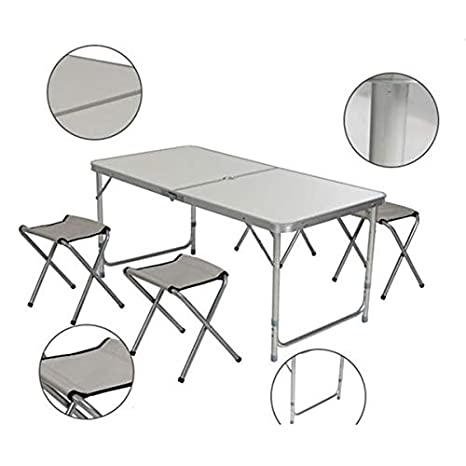 Amazon.com: Boylymia - Mesa plegable de aleación de aluminio ...