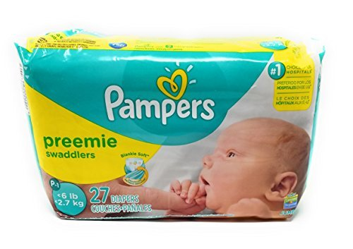 Amazon.com : Pampers Preemie Swaddlers P-s 27 Diapers : Baby Bathing Products : Baby