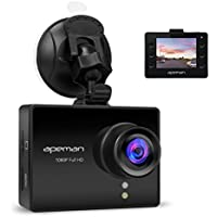 APEMAN Dash Cam In Car Camera Driving Recorder Full HD 1080P Dashboard Camera DVR With WDR, Loop Recording, 170 Degree Wide Angle 6G Lens, G-Sensor, Motion Detection, Parking Monitor, Night Vision