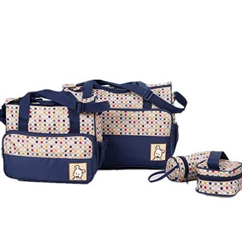 Diaper Bag Blue Circles - zitan Diaper Bag Set for Boys Girls 5pcs Set Shoulder Stroller Straps Tote Includes Padded Changing Pad