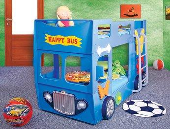 Etagenbett Autobus : Hohes etagenbett bus rot gelb oder blau omnibusse inkl