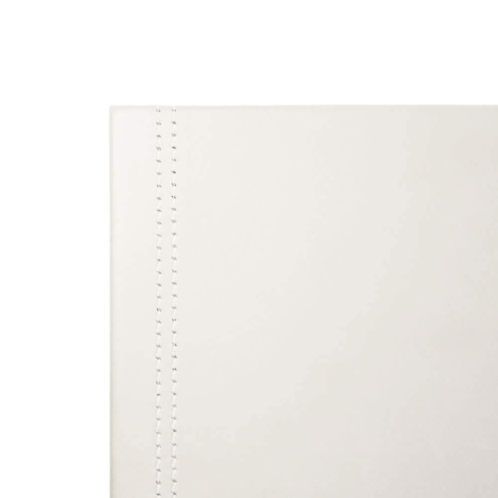 Sottomano Scrivania Ufficio in Cuoio Grigio Antracite cm 90x60 Made in Italy Struttura in Acciaio con Profilo a L Raffinate Cuciture Artigianali e Fondo Antiscivolo Eglooh Urania