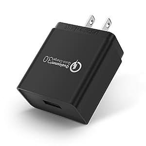 Quick Charge 3.0 UGREEN Cargador de Pared USB Cargador Rápido con Qualcomm 3.0 Certificado para Samsung Galaxy S9, S8, S7, S7 Edge, S6, Note 8 7 5, LG G6 G5, Nexus 6, HTC 10, U11, iPhone y otros Disopositivos con Quick Charge (Negro)