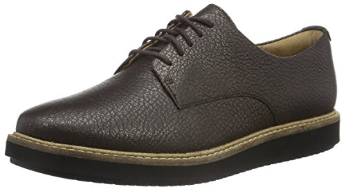 Clarks Women's Glick Darby Derby Brown (Dark Brown Metallic Leather) enjoy shopping clearance get authentic sale online shopping ogaHKga