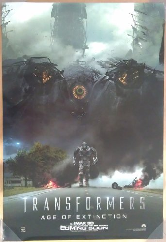Extinction Movie Poster (TRANSFORMERS AGE OF EXTINCTION MOVIE POSTER 2 Sided ORIGINAL Version B 27x40)