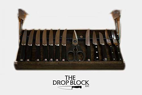 Under Cabinet Steak & Paring Knife Block (Black)