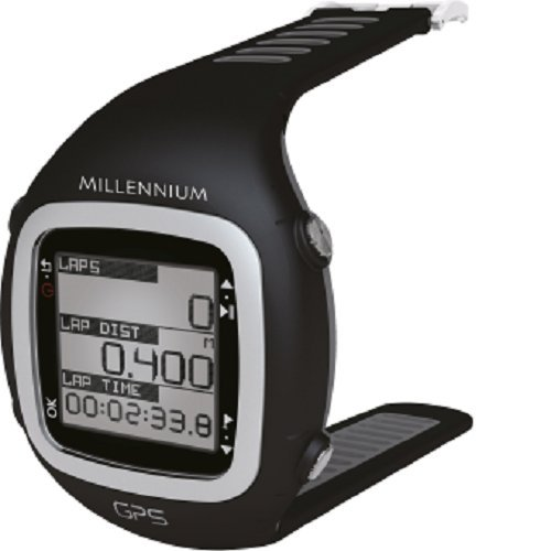 GPS-Sportuhr mit Brustgurt und Herzfrequenzmessung in grau/schwarz