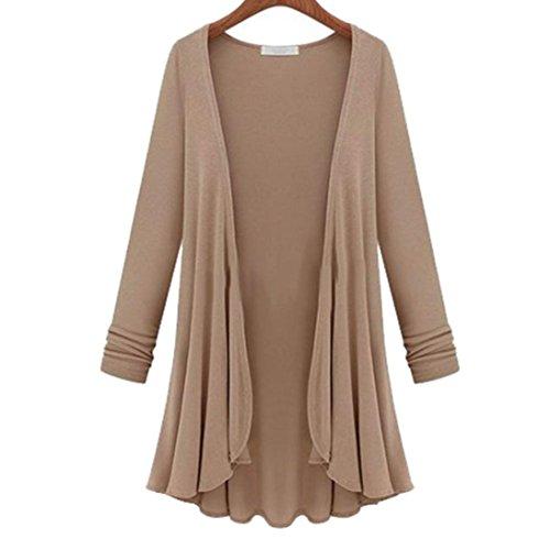 rebeca la de manga larga la del de superior de Chaqueta la mujeres Caqui manga suéter de de delgada Internet las blusa vSw8qx