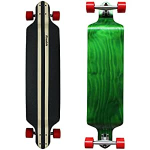 Rimable 41 Inch Stained Drop Deck Complete Longboard GREENRED