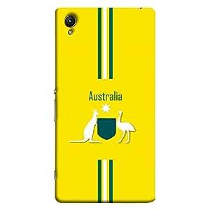 ColorKing Sony Xperia Z5 Premium Football Yellow Case shell cover - Fifa Australia 01