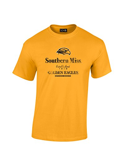 Ncaa Southern Mississippi Golden Eagles Stacked Vintage T Shirt  Xx Large  Gold