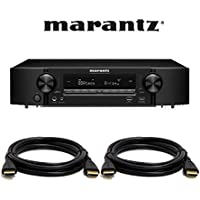 Marantz NR1607 Ultra HD 7.2 Channel Network A/V Surround Receiver with Bluetooth and Wi-Fi.With Free HDMI Cables.