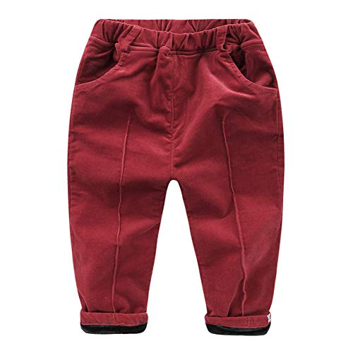 Mud Kingdom Baby Boys Corduroy Pants Winter Fleece Lined 24 Months Burgundy